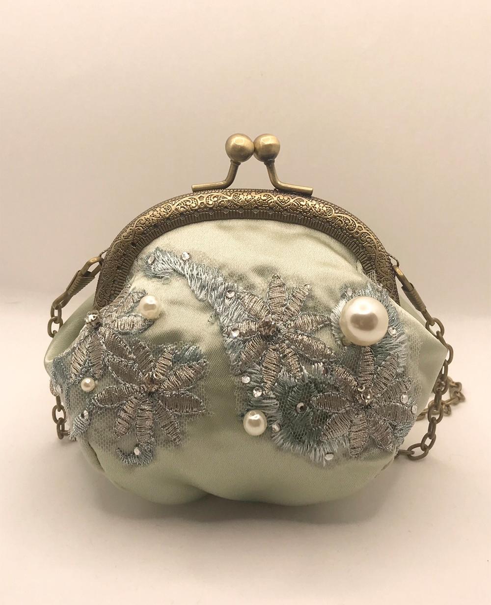 Mint Floral Handbag