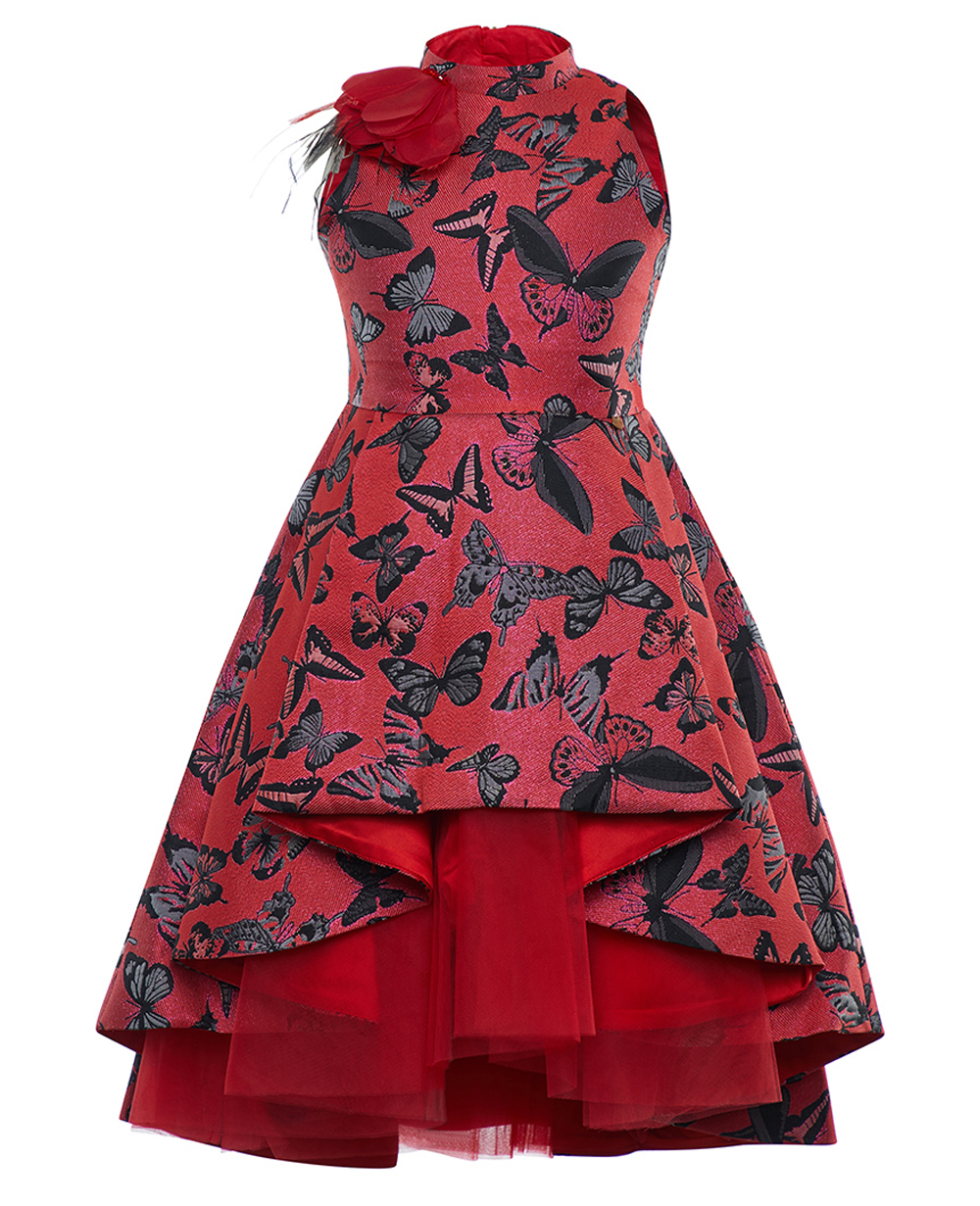 Red Brocade Supreme Dress