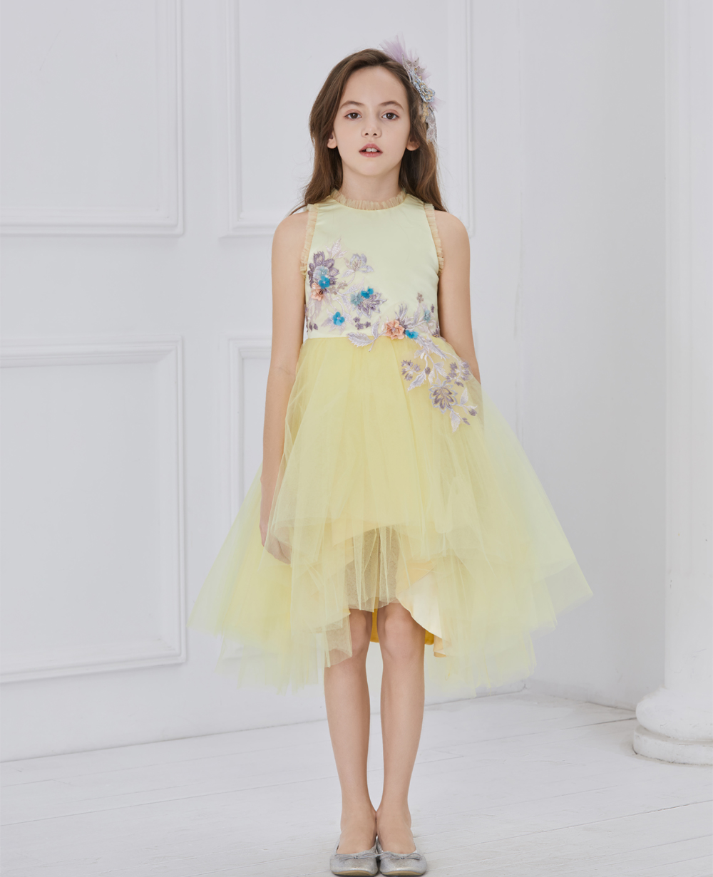 Yellow Glitz Tuelle Dress