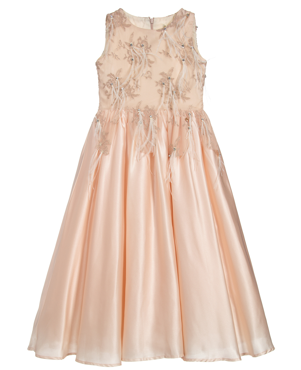 Cream Satin Dress Maxi Dress Sleeveless Lace Dress