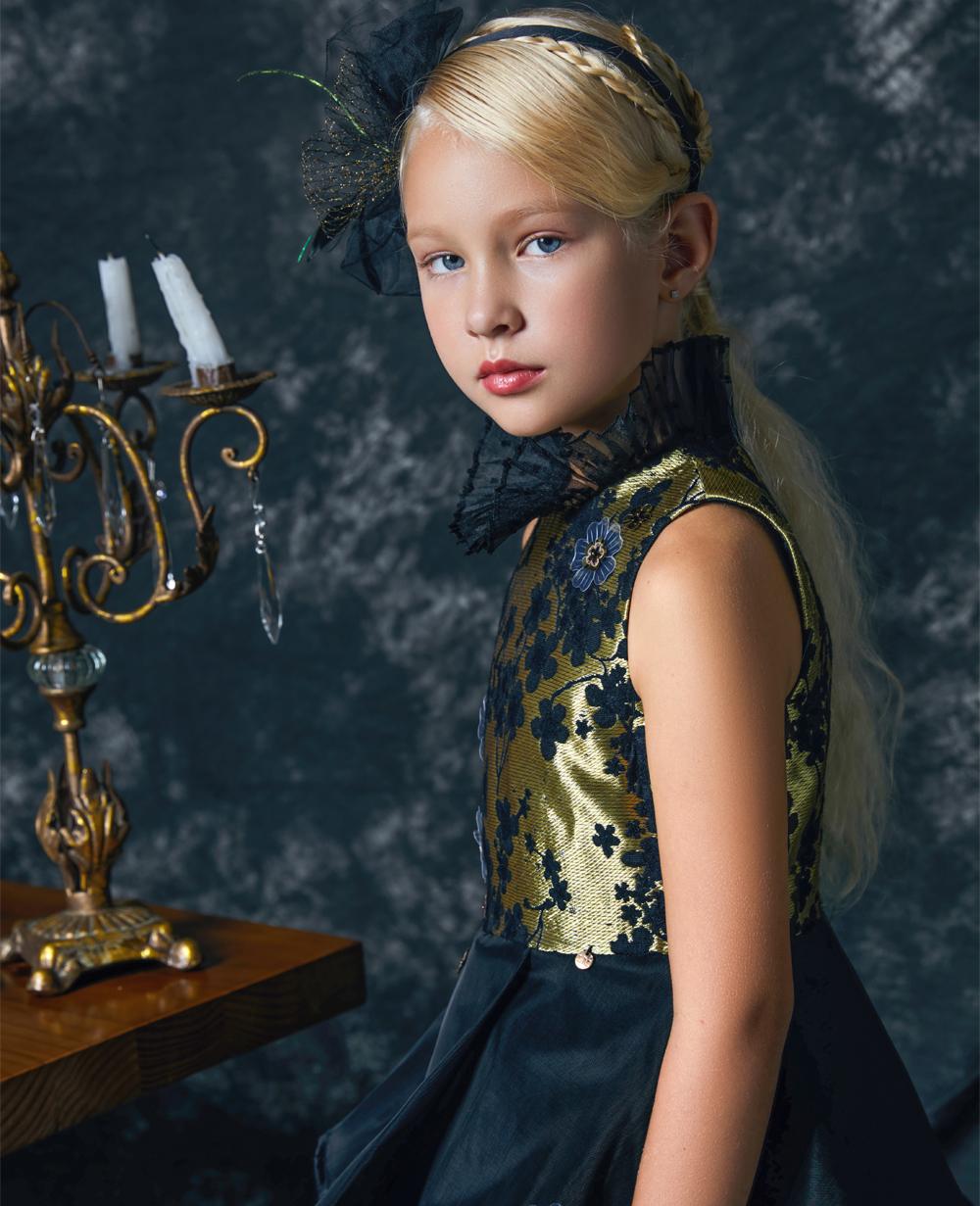 Black & Gold Beauty Tuelle Dress