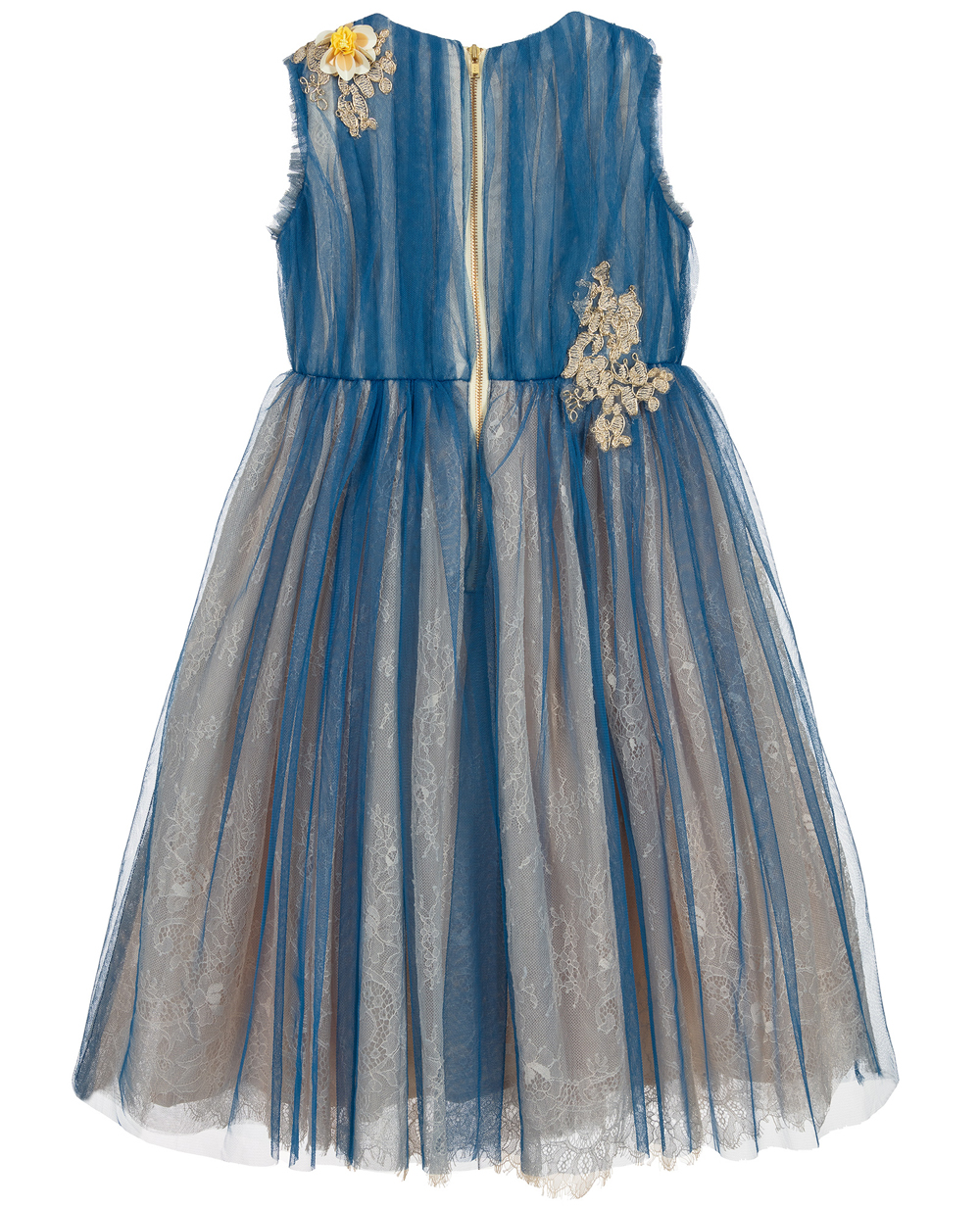 Blue Lace & Tulle Dress  Formal Wear