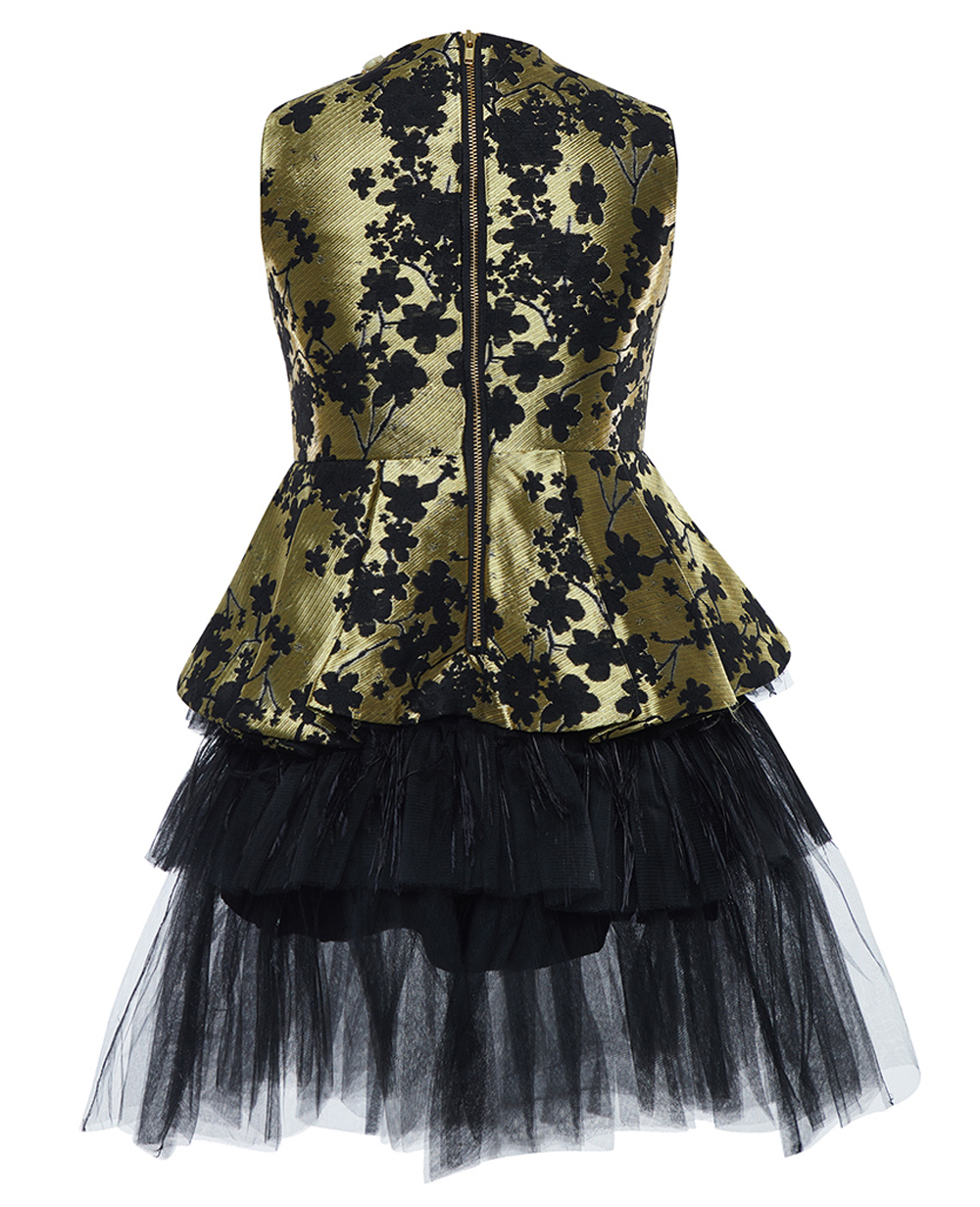 Black & Gold Devine Dress