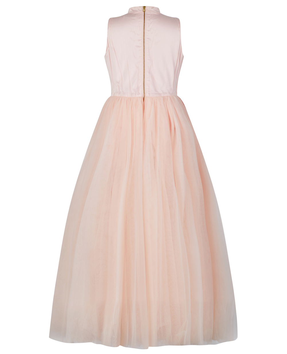Pink Sash Tulle Dress