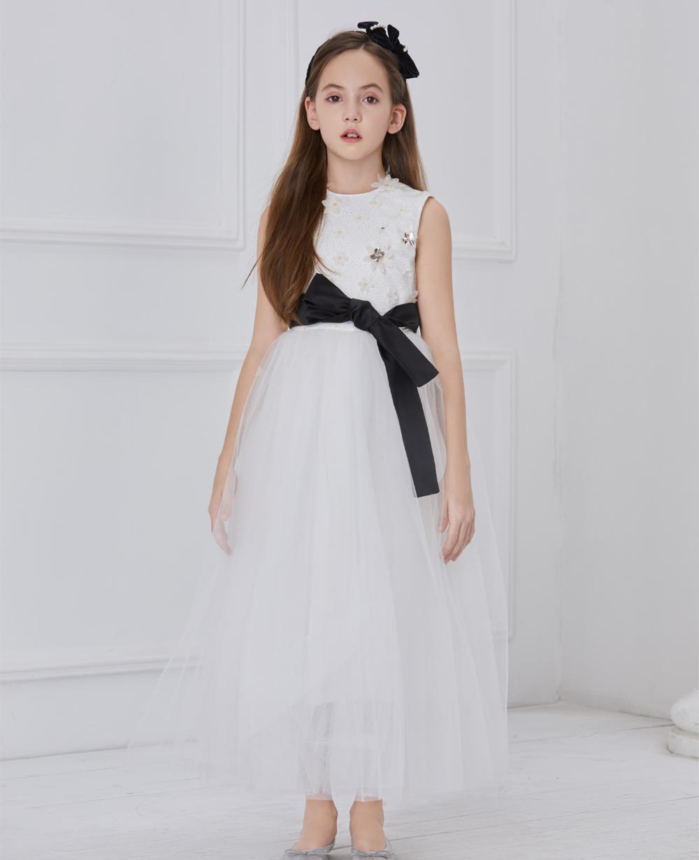 White Mysitque Tuelle Dress