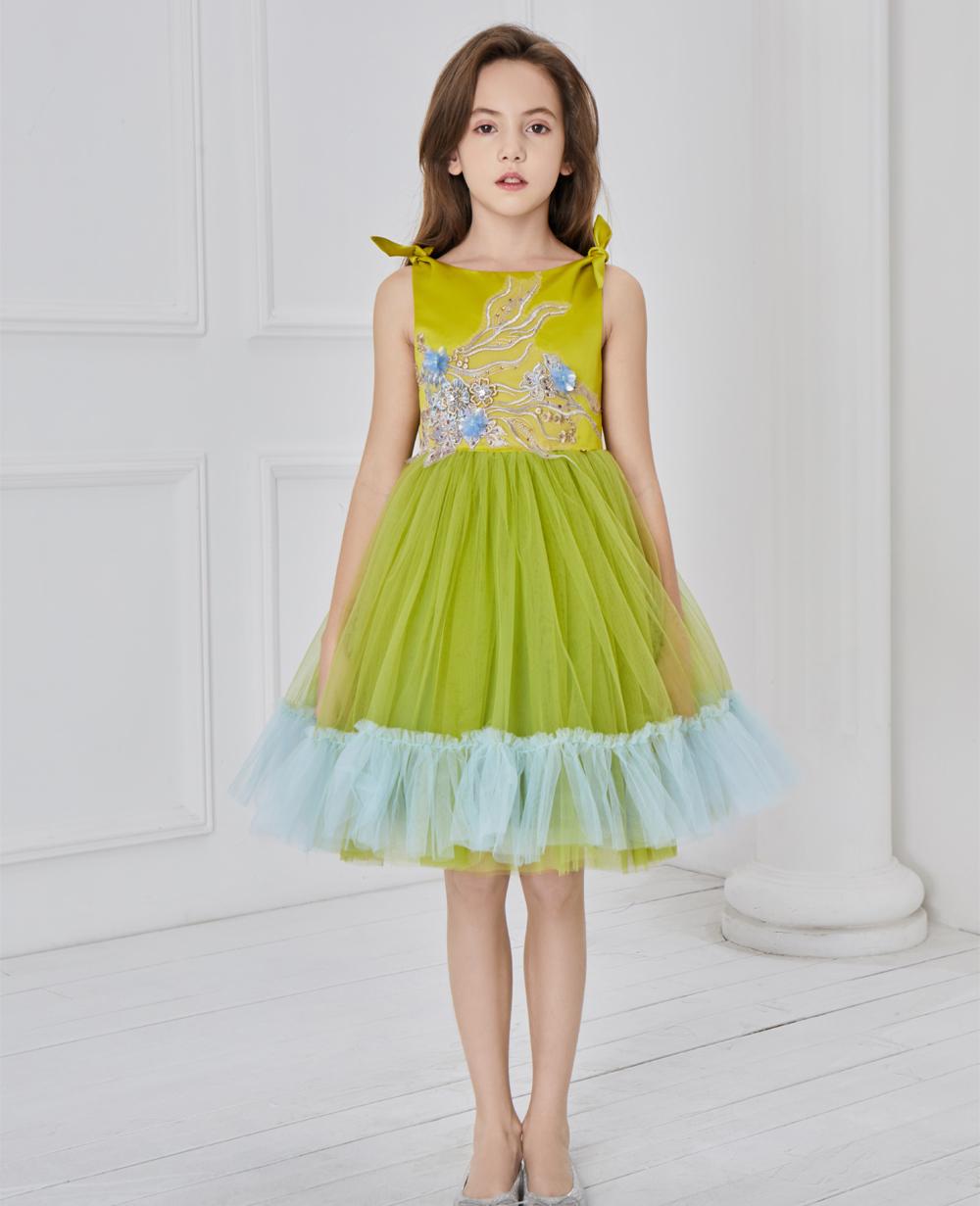 Green Ballerina Tuelle Dress