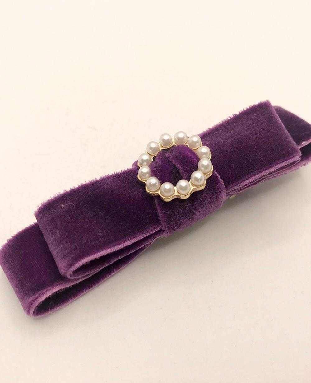 Purple Velvet Hairclip