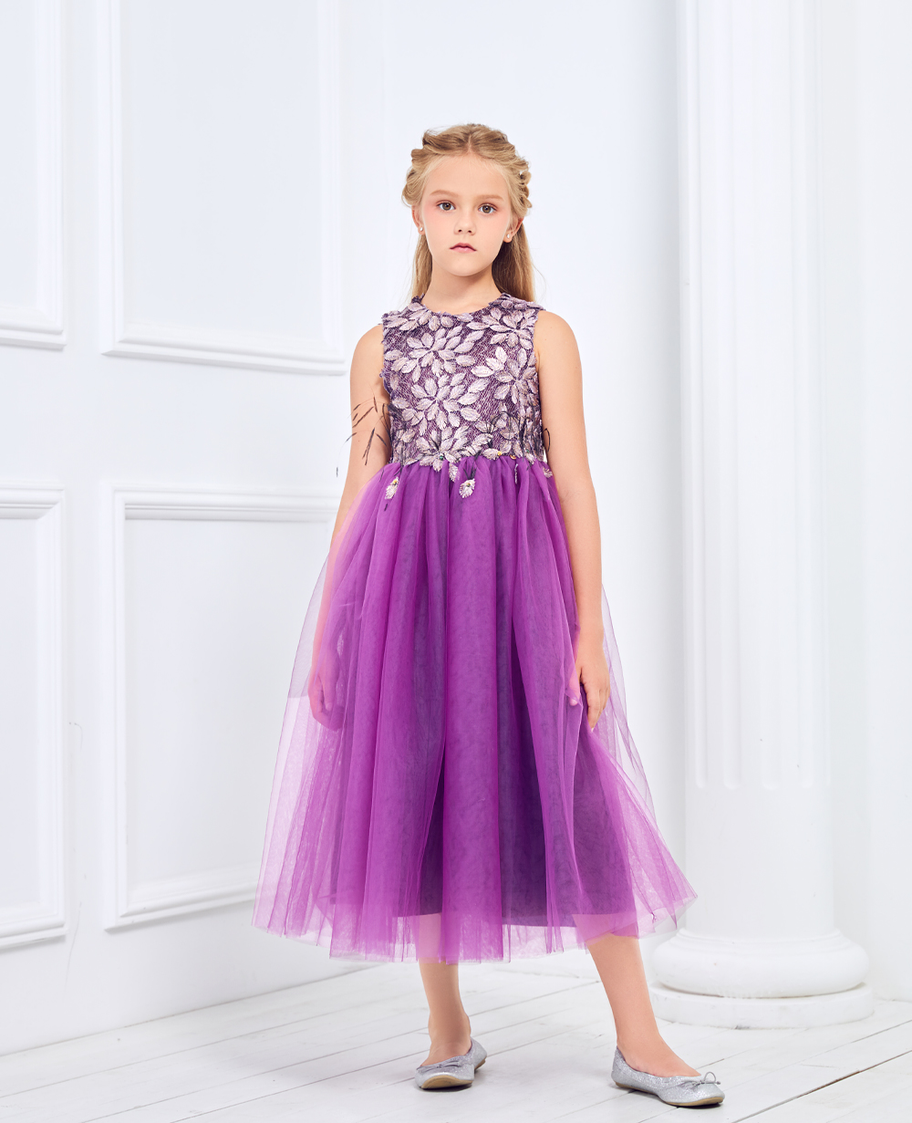Purple Tulle Princess Dress