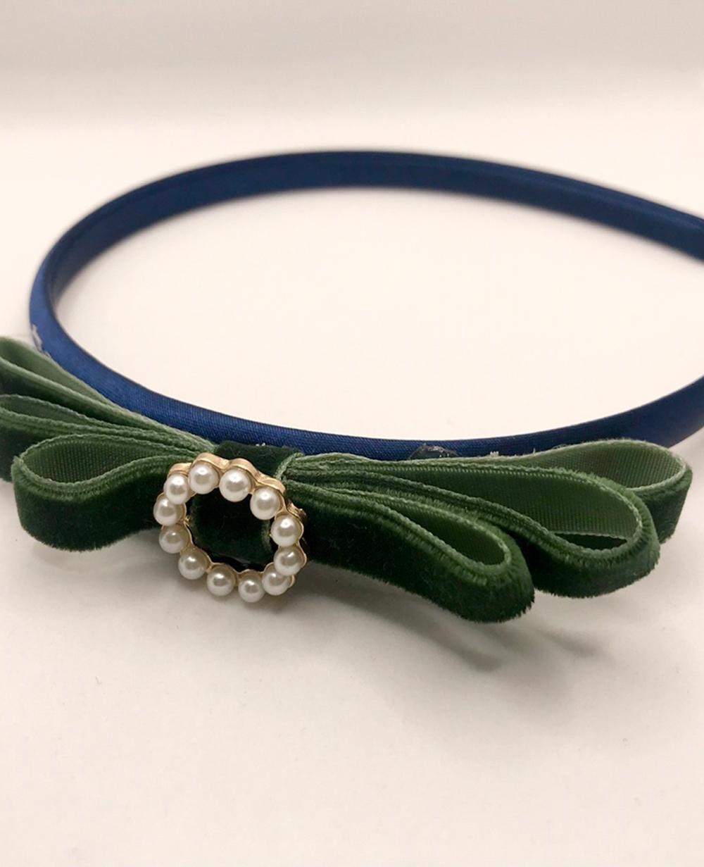 Green Velvet Hairband