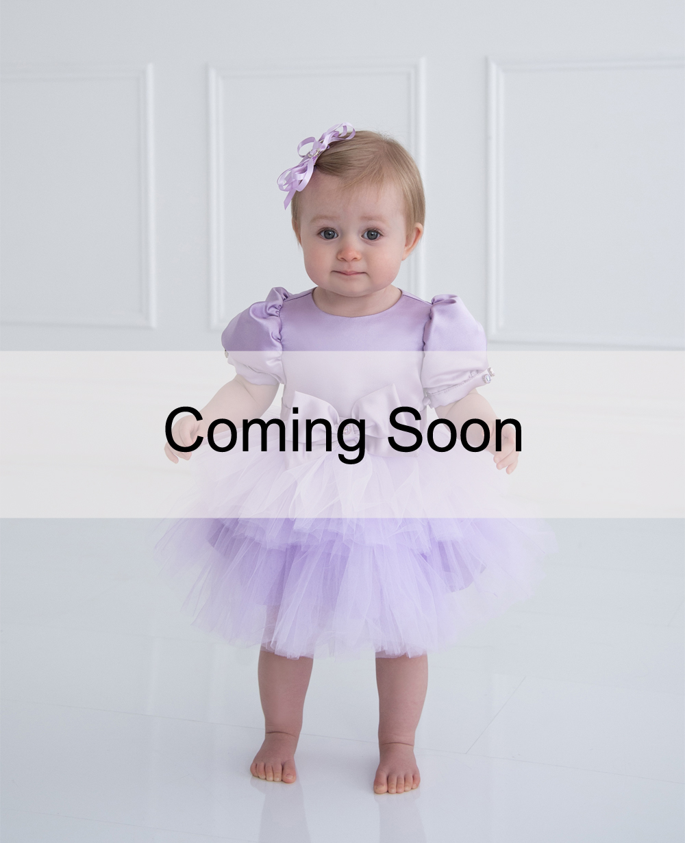 Lilac Tuelle Baby Dress