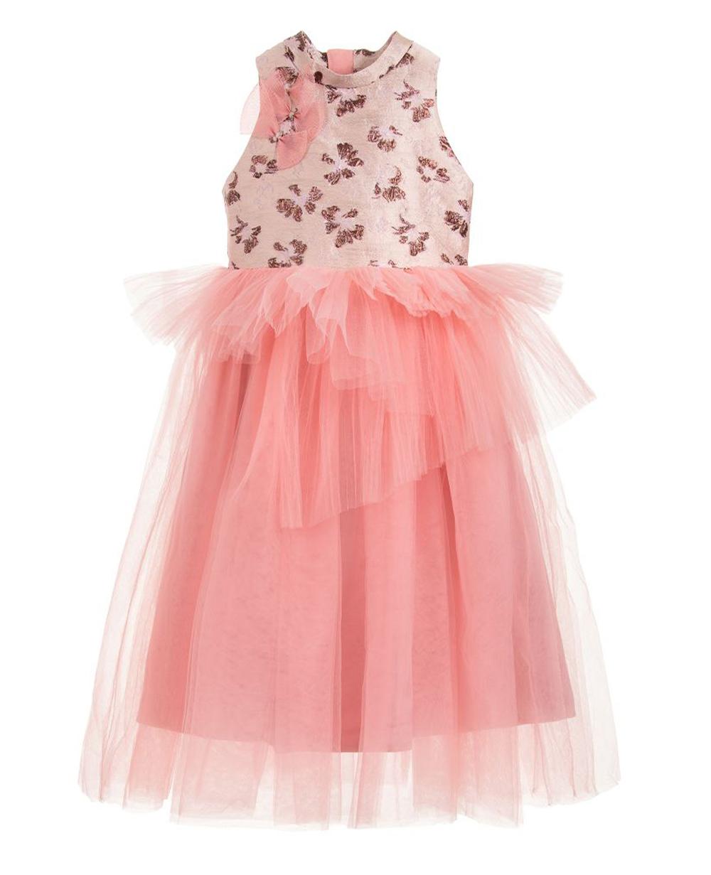 Pink Tulle Princess Dress Tulle Skirt Floral Dress