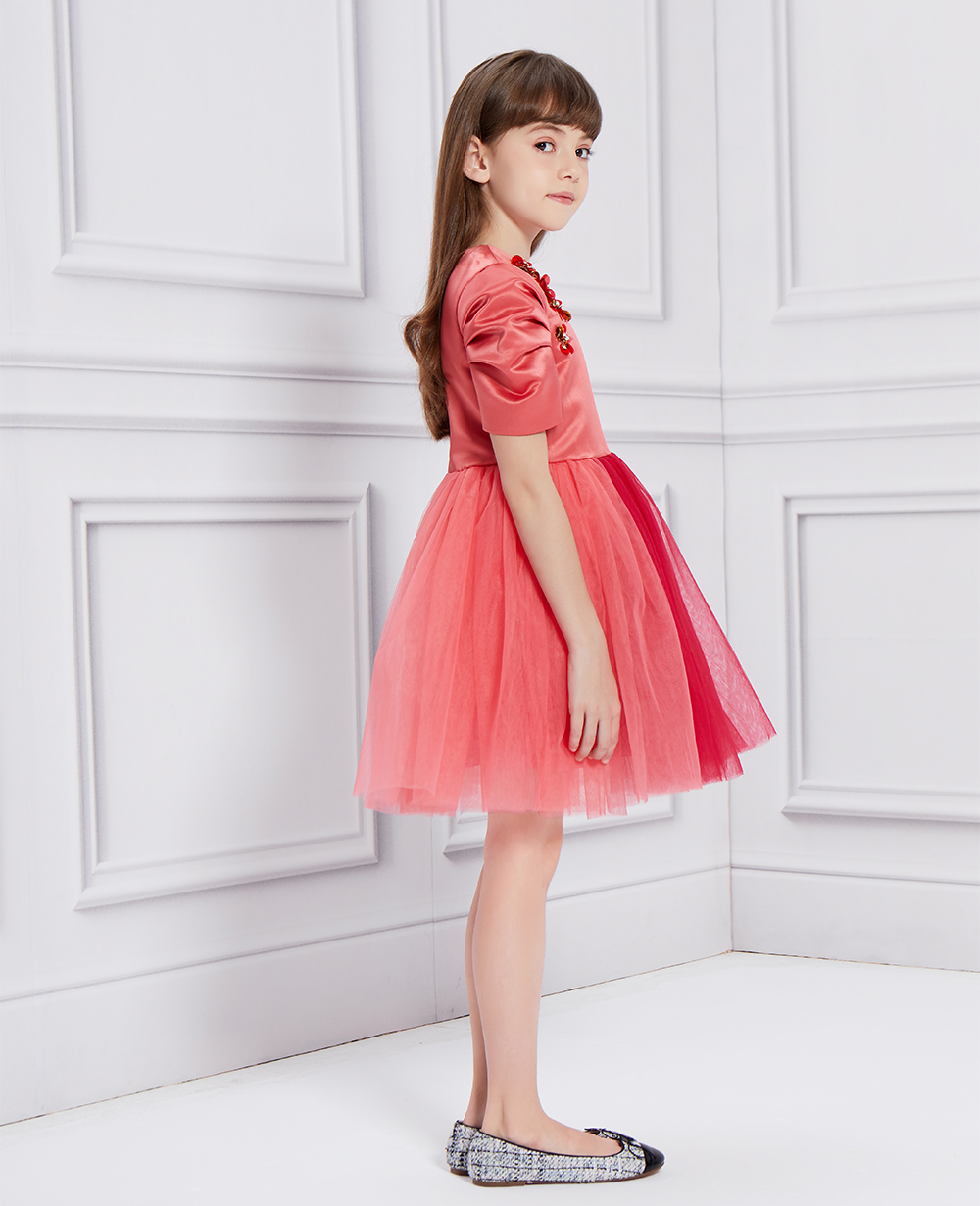 Red Princess Tuelle Dress