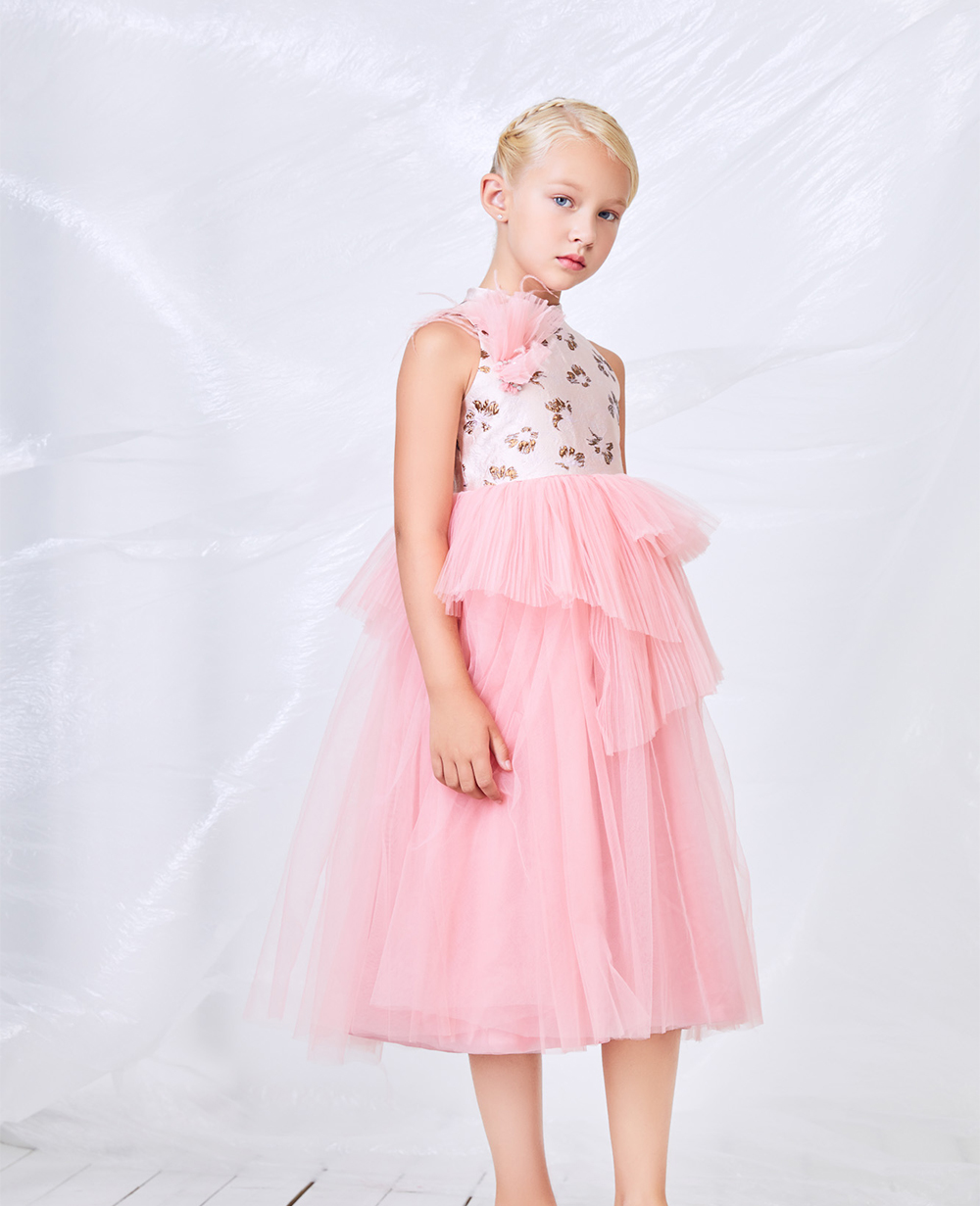 Pink Tulle Princess Dress Tulle Skirt Floral Dress