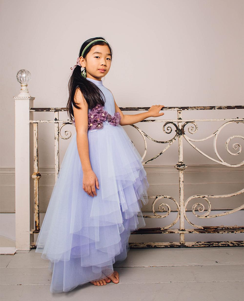Miranda Lilac Tuelle Skirt  Ball Gown Formal Dress