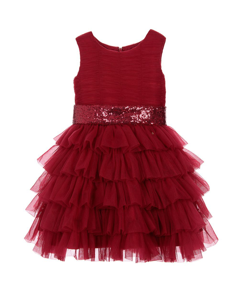 Burgandy Dress Satin Wedding Dress Tulle Skirt