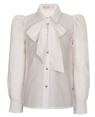 White Pussybow Blouse