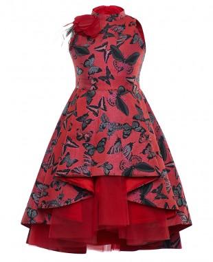 Red Brocade Supreme Dress