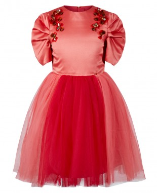 Red Princess Tuelle Dress