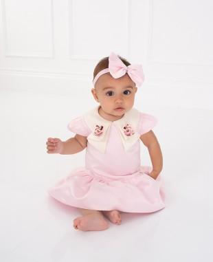 Pink Silk Satin Dress