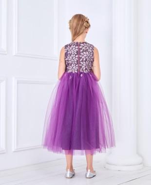 Purple Tulle Princess Dress