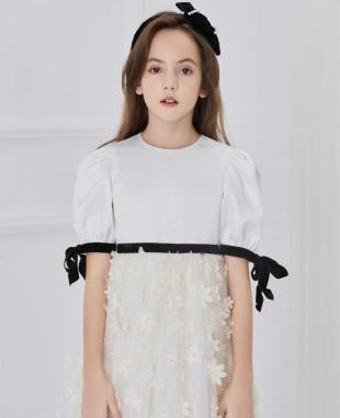 White Heavenly Rose Tuelle Dress