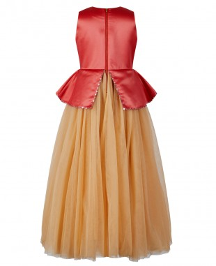 Pink & Gold Tulle Dress