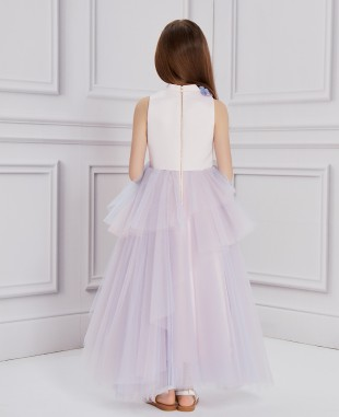 Pale Pink & Lilac Tulle Dress