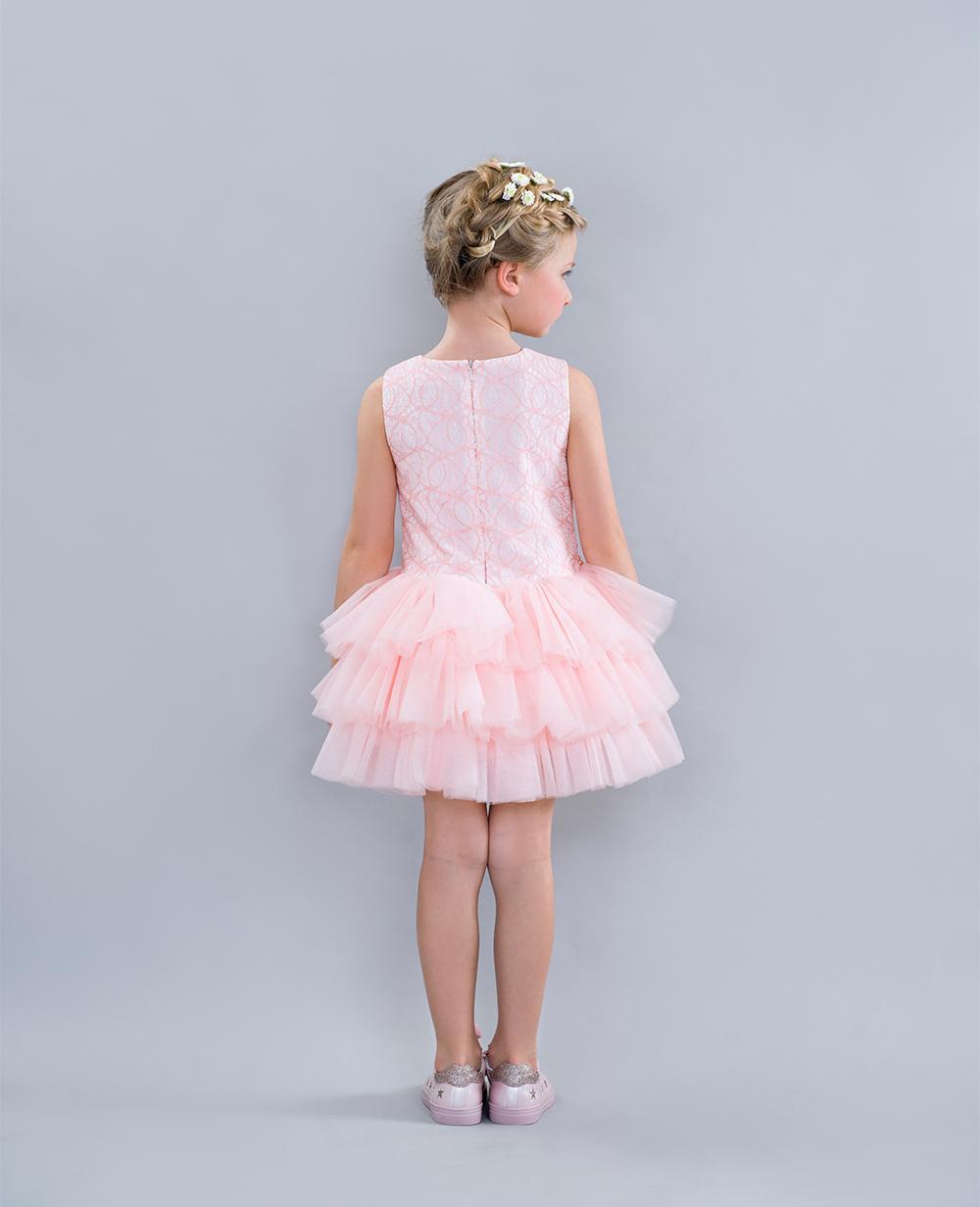 Pink Sleeveless Wedding Gown Formal Dress